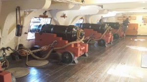Lower deck with very short ceilings (not too short for me, though!) and cannons.